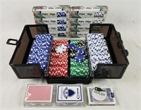 Huge Lot Of Poker Chips In Case