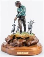 Art Ltd Ed Steve Myers Bronze Navajo Sculpture