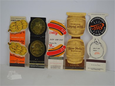 5] VINTAGE CONTOUR MATCHBOOK COVERS Other Items For Sale - 2