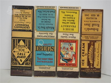10] VINTAGE PHARMACY MATCHBOOK COVERS Other Items For Sale