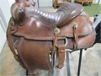 Western Saddle and Stand-