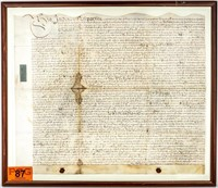 Art Original 1705 English Land Lease Agreement