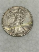 ESTATE SILVER COINS AND JEWELRY