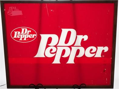Vintage Framed Dr  Pepper Vending Machine Sign Other Items