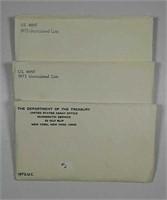 1972, 1973 & 1975  US. Mint Unc. sets