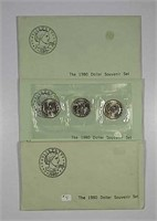 3  1980 Susan B. Anthony Dollar Souvenir sets
