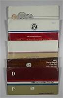 1984, 1985, 1986, 1987, & 1988  US. Mint Unc. sets