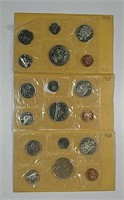 1968, 1969 & 1970  Canadian Uncirculated sets