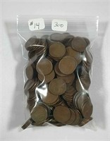 """Bag of 300 Circulated Lincoln """"Wheat"""" Cents"""