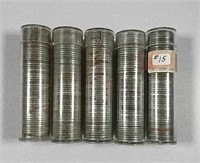 """5  Rolls of Circulated Lincoln """"Steel"""" Cents"""