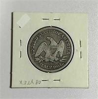 1856-O  Seated Liberty Half Dollar   VG