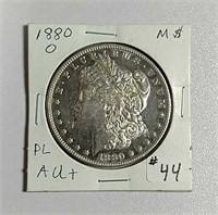 1880-O  Morgan Dollar  AU+  Proof like