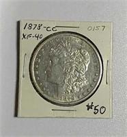 1878-CC  Morgan Dollar  XF-40