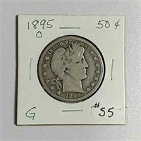 1895-O  Barber Half Dollar  G