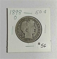 1898-O  Barber Half Dollar  G