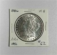 1886  Morgan Dollar  AU+