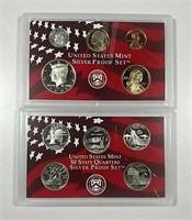2001  US. Mint Silver Proof set