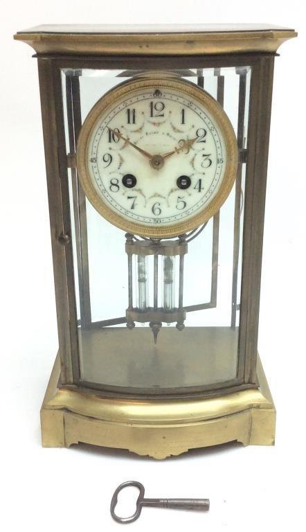 Antique Bailey Banks Biddle Fesk Top Clock Carolina Auction House Llc