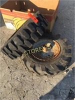 Pair of Rimmbed Tires
