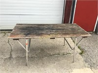 Wood Top Table - as is