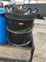 Metal Container w/ Wheel Dolly