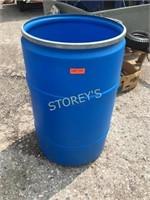 Blue Plastic Container