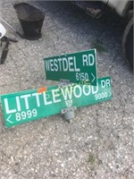 Littlewood / Westdel Road Sign