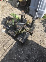 4 Adjustable Stock stands - as is
