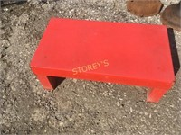 Metal Red Stand - 22 x 12 x 8