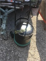 Black Hand Cart w/ Pump Can - as is