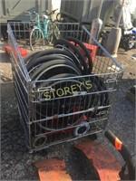 Crate & Asst Wheelchair Wheels, Base, etc.