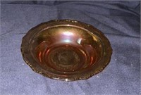 Pink Carnival Glass Dishes