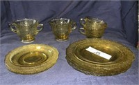 Yellow Glass Dishes