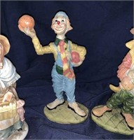 Ceramic Clowns And Old Couple