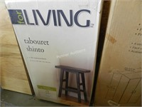 For Living Shinto Stool Dark Espresso