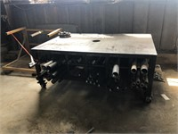 Metal Work Table with Assorted Piping & Tank Stand