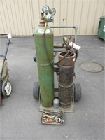 Torch Cart with Tanks and Misc. Torches