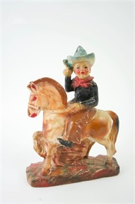 Rare Vintage Carnival Chalkware Cowboy On Horse Other Items