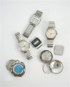 Lot Of Various Watches For Parts Or Repair Other Items For