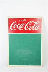 Rare 1960s Green Coca Cola Menu Board By Mca Other Items