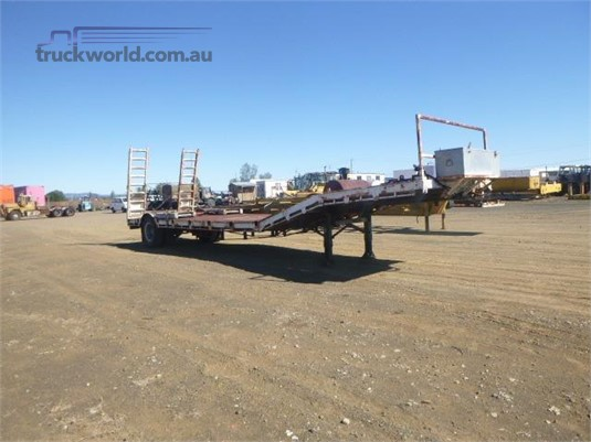 1986 Homemade Low Loader Trailer Western Traders 87 - Trailers for Sale