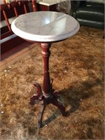 MARBLE TOP PLANT STAND/PHONE TABLE