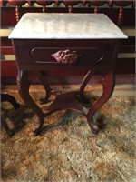MARBLE TOP NIGHT STAND/END TABLE
