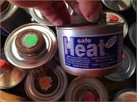 BOX OF CHAFING OIL CANS