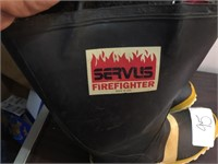 SERVS FIREFIGHTER BOOTS SIZE 14WIDE