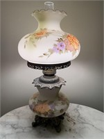 "29"" VICTORIAN PARLOR HURRICANE LAMP"