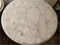 """22"""" ROUNDX 28"""" MARBLE TOP SIDE TABLE"""