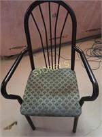 Black Metal Dining Arm Chair