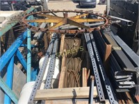 Contents of Trailer: Reels of Wire, Pallet Racking