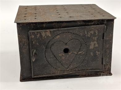Antique Primitive Metal Bed Buggy Warmer Other Items For